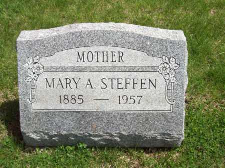 STEFFEN, MARY A. - Woodford County, Illinois   MARY A. STEFFEN - Illinois Gravestone Photos