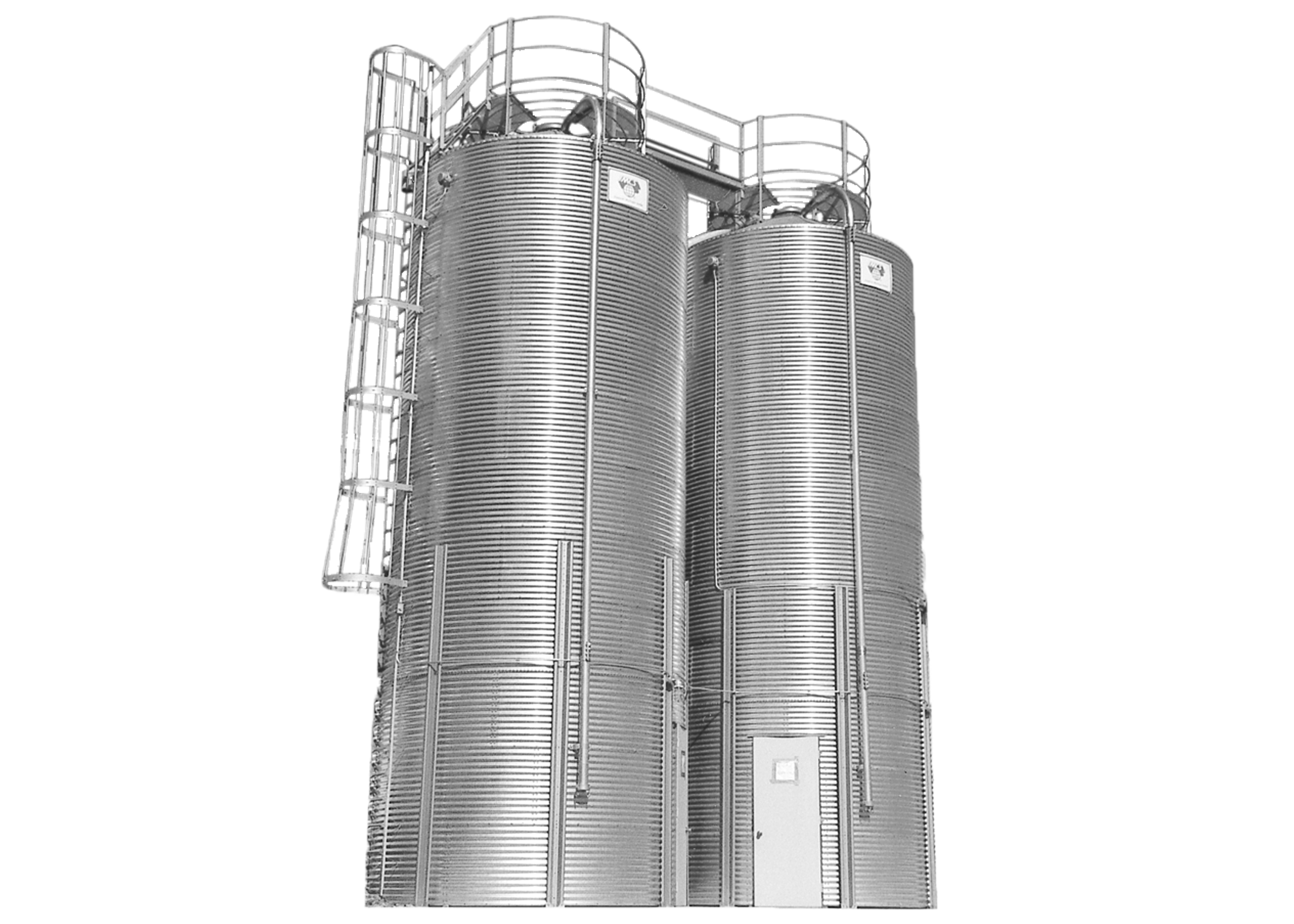 Bolted Galvanized Roof Silos 10°