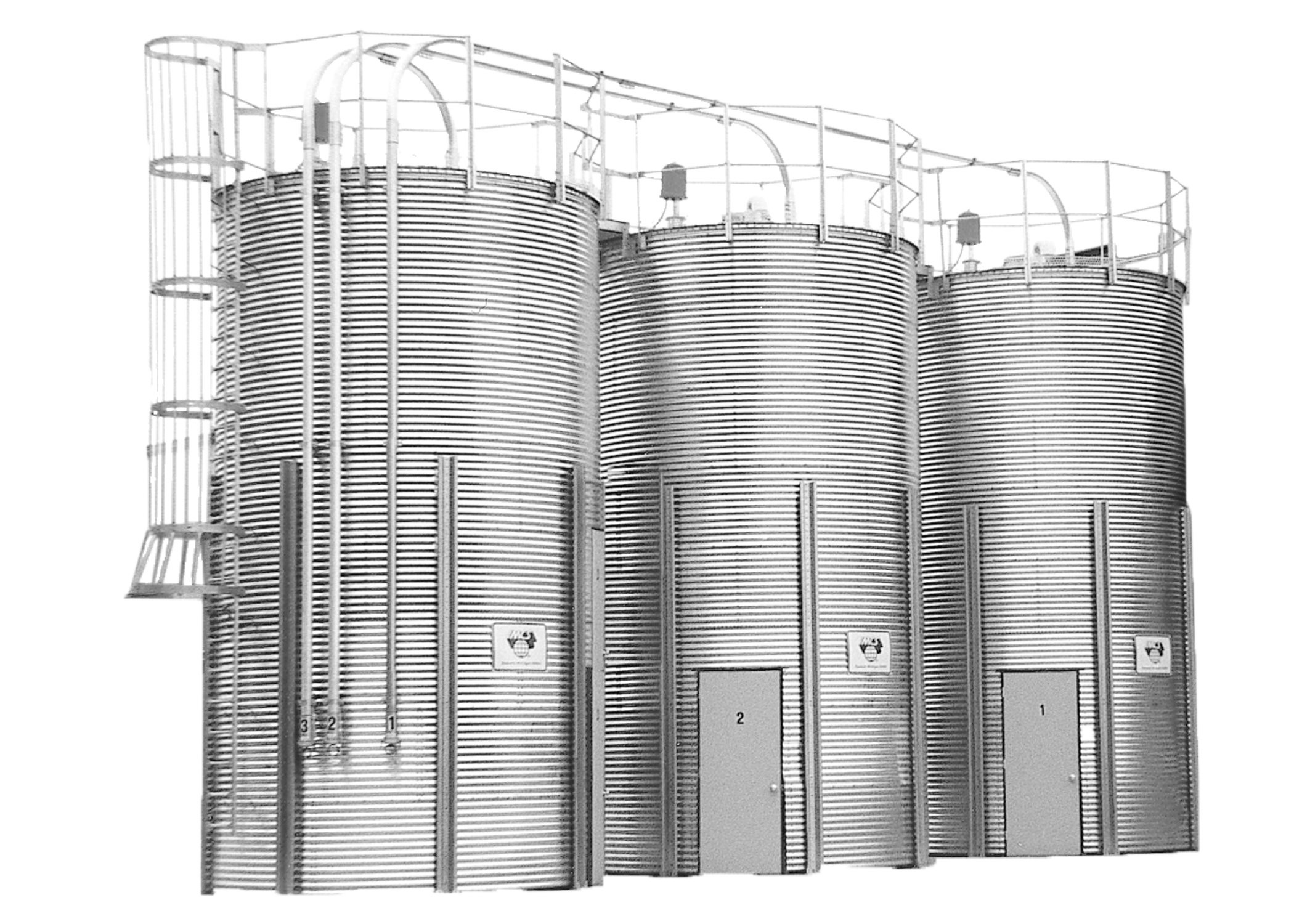 Bolted Galvanized Roof Silos 30°