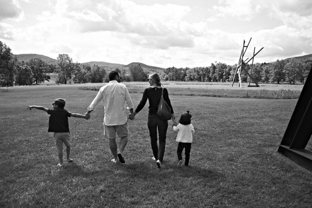 Andie with her husband and two children