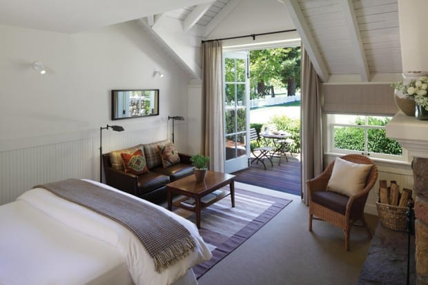 Bedroom at  Meadowood, Napa Valley, California