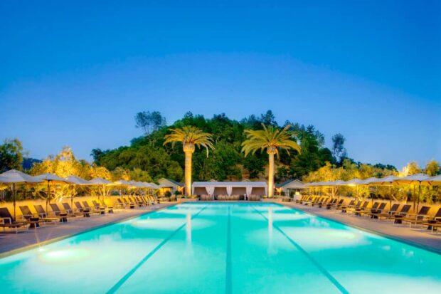 Pool Lounge  at Solage Calistoga, Napa Valley, California