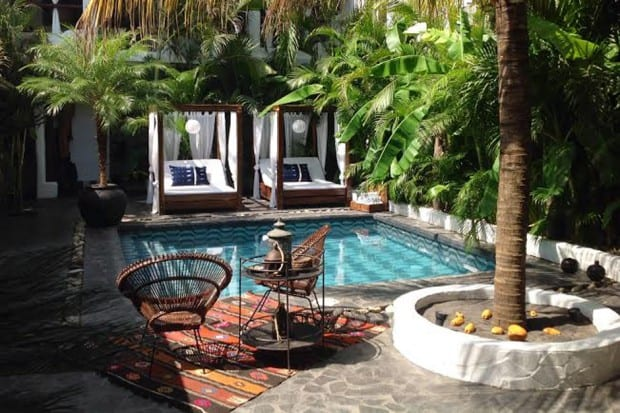 Courtyard and Pool at  Tribal Hotel, Nicaragua, Nicaragua