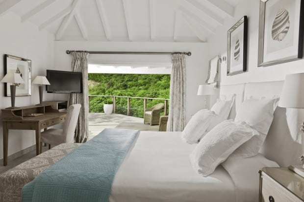 Bedroom External view at Cheval Blanc St-Barth Isle de France, St. Barth's, Caribbean - Courtesy C. Napolitano