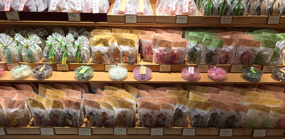 Candy shopping in Kyoto