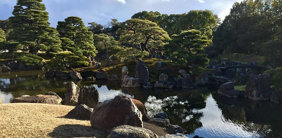 Gardens outside Nijo Castle