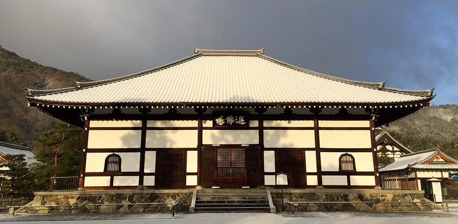 Early morning at Tenryu-ji Temple in Arashiyama
