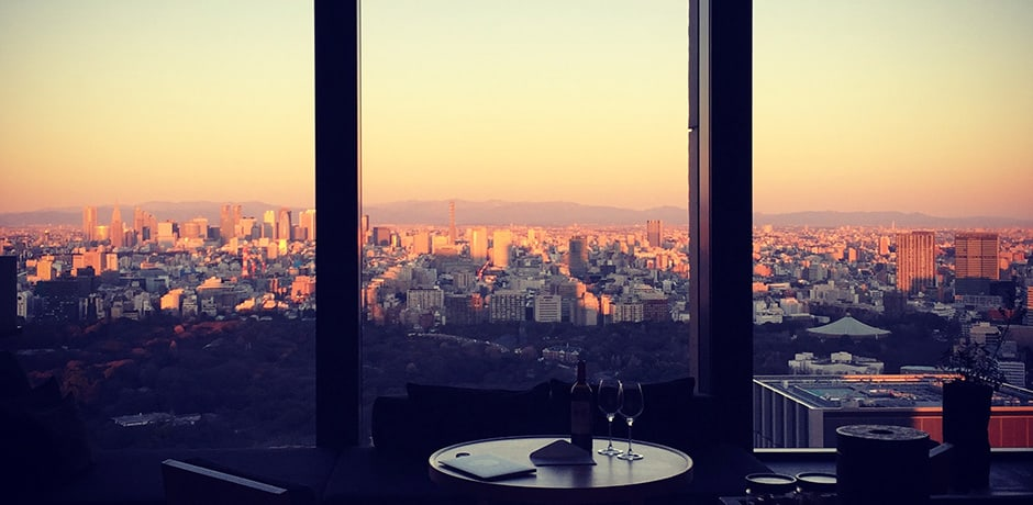 Sunrise view from the Aman Tokyo