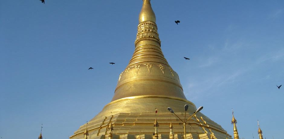 Made of solid gold, the cupola is breathtaking as are the many shrines surrounding this massive hilltop site.