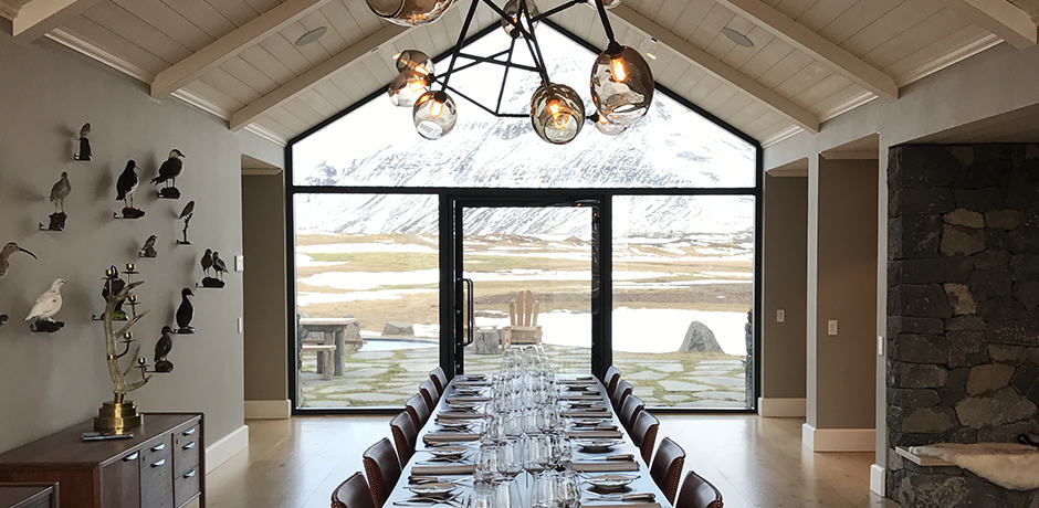 Guests and guides usually dine together in the beautiful main dining room, but private meals can be arranged anywhere on property.