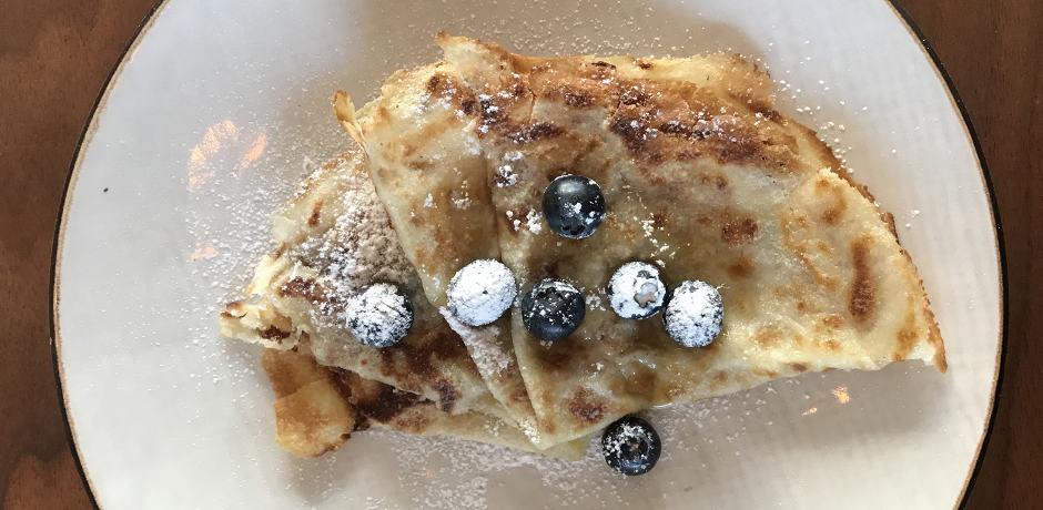 Icelandic pancakes for breakfast.