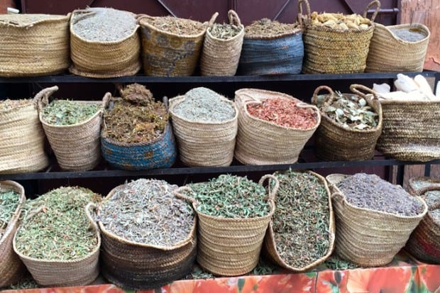 A spice market in the Medina