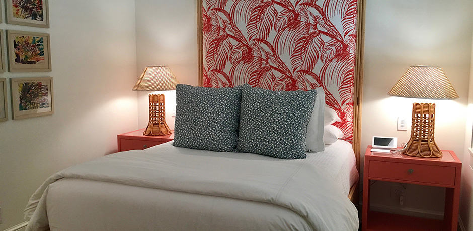 Each bedroom at the Bahama House is individually designed