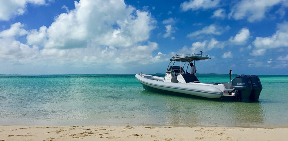 Guests of the Bahama House can hire out the property's own boat, the Scorpion