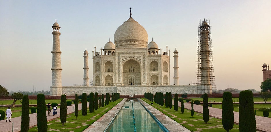 It is recommended to visit the Taj Mahal first thing in the morning to avoid crowds and midday heat.