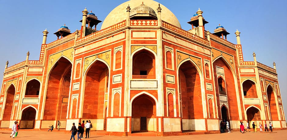 Humayun's Tomb in Delhi was the inspiration for the Taj Mahal