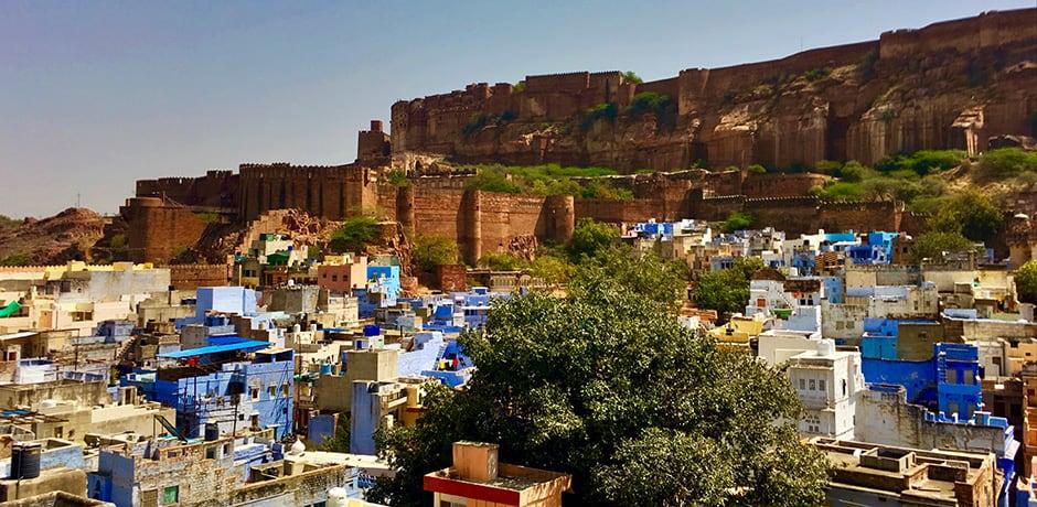 Vibrantly hued homes in Jodhpur's Blue City