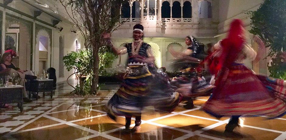 A nightly dance performance at the Taj Lake Palace
