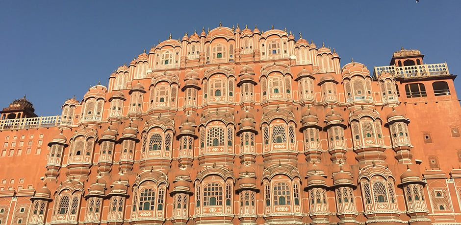 Jaipur's famed Palace of Winds consists of 953 windows. These were designed so that the royal women of the household could observe street festivals while unseen from the outside.