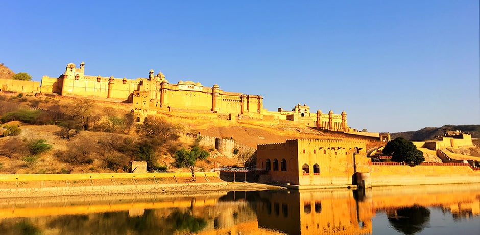 Amber Palace, situated 7 miles northeast of Jaipur, was once the royal Rajput capital
