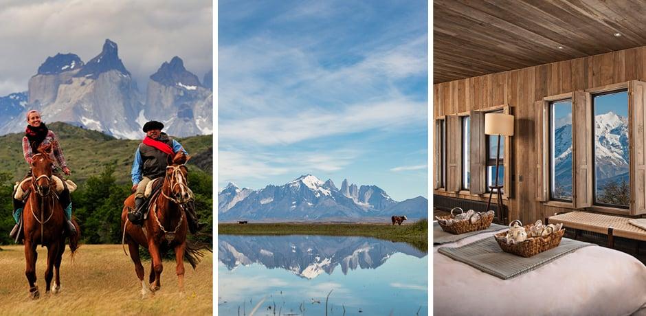 Courtesy horseback riding at Explora, views at Singular, a room at Awasi