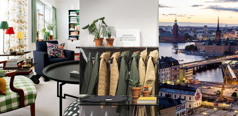 From left: Svenskt Tenn; Stutterheim; Courtesy Visit Stockholm