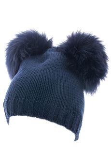 Double pon pon hat CATYA | 26 | 721605BLU