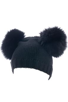 Double pon pon hat CATYA | 26 | 721605NERO