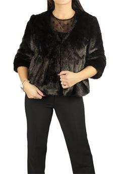 Fur coat FRACOMINA | 41 | FR17FP731MORO