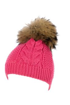 Braid hat with pom pom CATYA | 26 | 822631FU