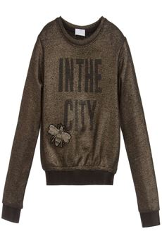 Metallic Gold Sweatshirt FUN FUN | -108764232 | FNBST0071UN