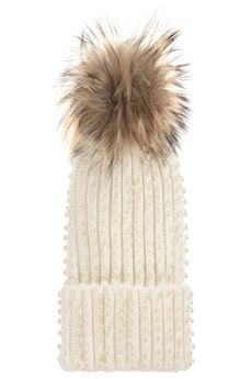 Girls Knitted Pom-Pom Hat  FUN FUN | 26 | FNJAC0785UN