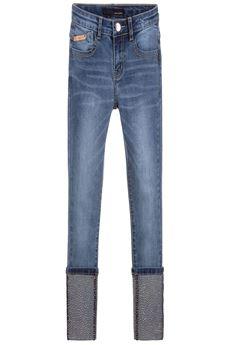 Girls Studded Cuff Denim Jeans FUN FUN | 9 | FNJPT0376UN
