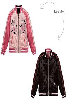 Reversible Satin Zip-Up Jacket GUESS | 13 | J83L50BUN
