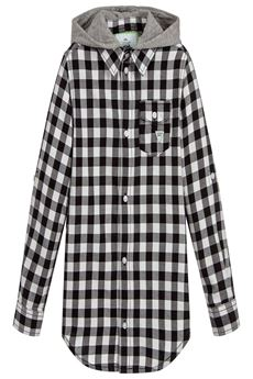 Boys Hooded Cotton Check Shirt GUESS | 6 | L83H15NE