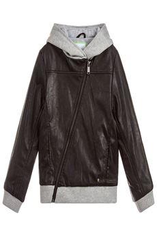 Boys Faux Leather Jacket GUESS | 3 | L83L50AUN
