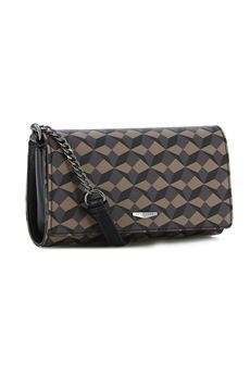 Clutch bag with shoulder strap HEXAGONA | 31 | 485672MA