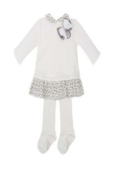Bow dress with Stocking TUTTO PICCOLO | 11 | 5284UN