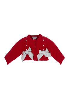 Tricot Cardigan with Bows TUTTO PICCOLO | 39 | 5500UN