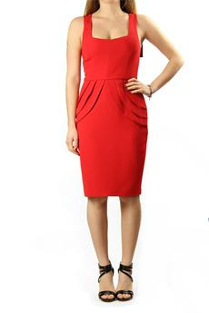 Sheath dress red fire, signed Betty Blue BETTY BLUE | 11 | AB0423715UN