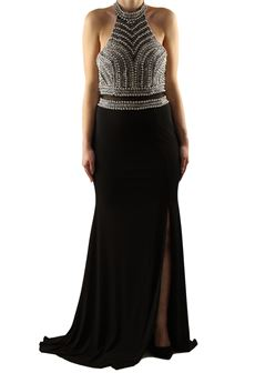 Long dress with slit BACI STELLARI | 11 | BS0849UN