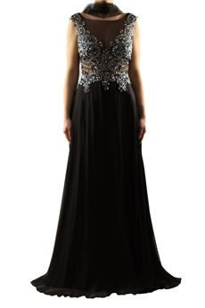 Elegant black and silver dress BACI STELLARI | 11 | BS37133UN