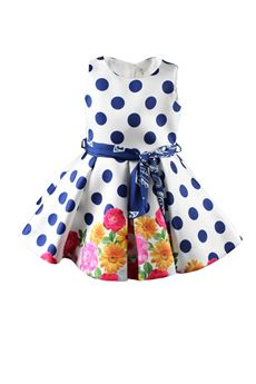 Dress polka dots and flowers LOREDANA | 11 | 4149UN