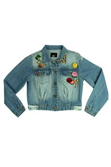 Denim jacket with stickers FRACOMINA | 13 | FR17SMJ120UN