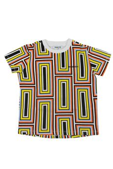 T-shirt geometrica BIKKEMBERGS   8   18EDNMTE5512BBI