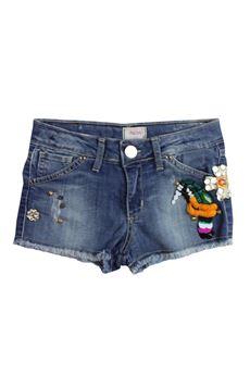 Short in jeans con applicazioni FRACOMINA MINI | 30 | FM18SSG1005UN