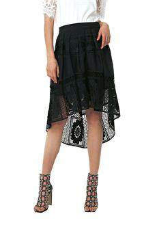 Asymmetrical midi skirt FRACOMINA | 15 | FR18SMGIUSEPPANE