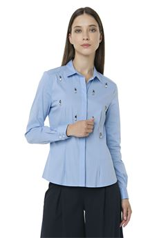 Classic shirt with applications FRACOMINA | 2035781291 | FR18SP060BL