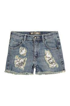 Shorts denim paillettes GUESS | 30 | K81D03UN