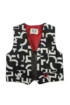 Fancy waistcoat in satin ICEBERG | 38 | GLICE181207BMUN